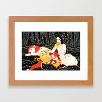 Samson (by Alexandra Beguez) Framed Art Print