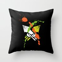 Splatoon - Turf Wars 1 Throw Pillow