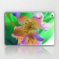 Purple Flowers - Waterco… Laptop & iPad Skin