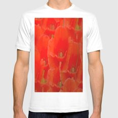 Red Poppies Mens Fitted Tee White SMALL