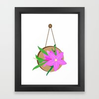 Flowers On The Wall  Framed Art Print
