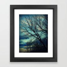 Merrimac Winter Sky Framed Art Print
