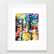 Flow Chart Framed Art Print