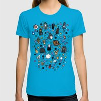 Studio Doki Womens Fitted Tee Teal SMALL