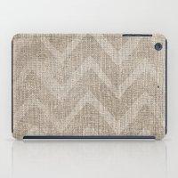 Chevron Burlap (Hessian … iPad Case