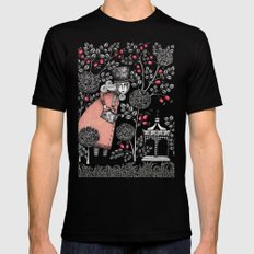 Winter Garden Black Mens Fitted Tee SMALL