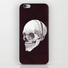 Human skull iPhone & iPod Skin