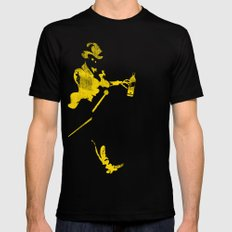 Keep Walking Dead Black Mens Fitted Tee SMALL