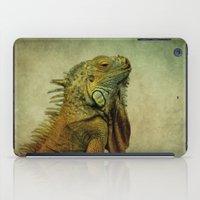 Green Iguana iPad Case