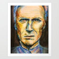 Pastel Eastwood Art Print