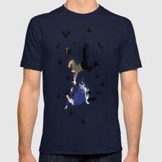 Land of America Mens Fitted Tee Navy SMALL