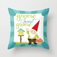Gnome sweet gnome Throw Pillow