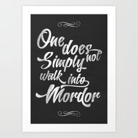 The Lord Of The Rings - … Art Print