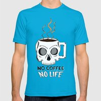No Coffee No Life Mens Fitted Tee Teal SMALL