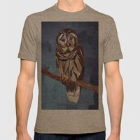 Owl Mens Fitted Tee Tri-Coffee SMALL