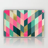 Abstract Shimmer Chevron Laptop & iPad Skin