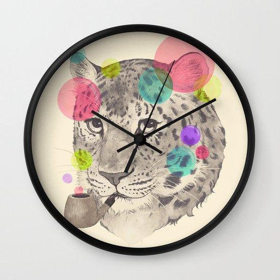leopard changes his spots Wall Clock