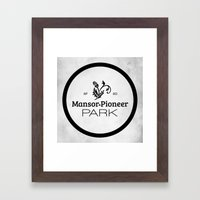 Mansor-Pioneer Park Framed Art Print