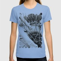 Across the axes Womens Fitted Tee Athletic Blue SMALL
