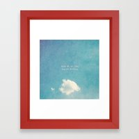 Rule #4 Of Life - Regret… Framed Art Print