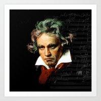 Beethoven - Music Demon Art Print