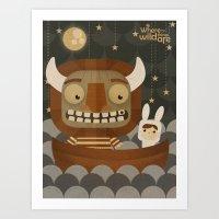 Where The Wild Things Ar… Art Print