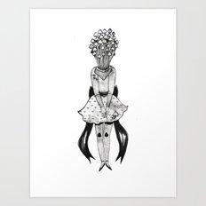 Enoki Mushroom Girl Art Print