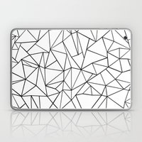 Abstract Outline Black O… Laptop & iPad Skin