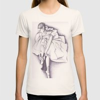 Ballet dancer Womens Fitted Tee Natural SMALL