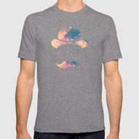 Retro Face With Moustach… Mens Fitted Tee Tri-Grey SMALL