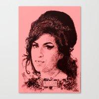 27 Club - Winehouse Canvas Print