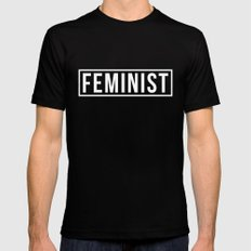 Feminist 2 SMALL Mens Fitted Tee Black