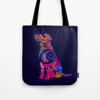 Psychedelic Dog Tote Bag