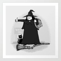 Witch Hiker Art Print