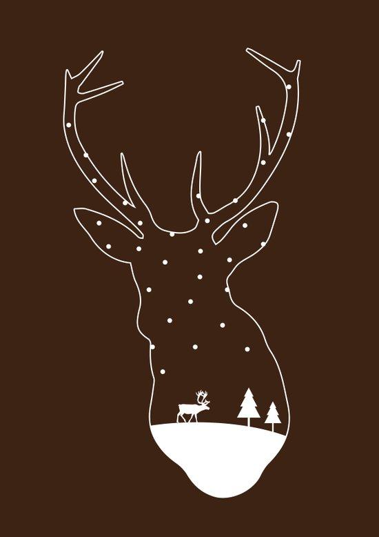 Christmas reindeer. 4 Art Print