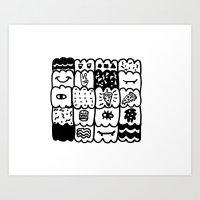 I am a pattern, pattern Art Print
