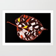 Art Print featuring Leaf Abstraction(2). by Mary Berg