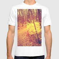 The Golden Hour Mens Fitted Tee White SMALL