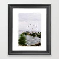 Sky Wheel Framed Art Print