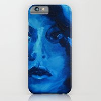 iPhone & iPod Case featuring THE BLUE QUICK PORTRAIT by Maud Villers