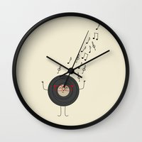THEODORE THE VINYL Wall Clock
