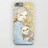 iPhone & iPod Case featuring Girl with Panda by Irena Sophia