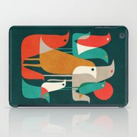 iPad Case featuring Flock Of Birds by Budi Kwan
