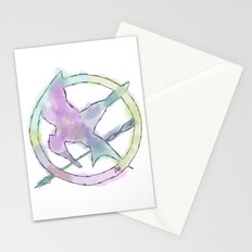 Mockingjay Watercolors Stationery Cards