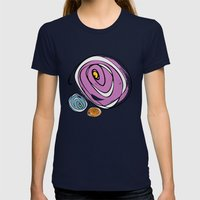 Roses Womens Fitted Tee Navy SMALL