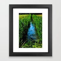 Small ditch Framed Art Print