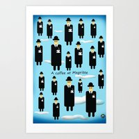 A Coffee At Magritte Art Print