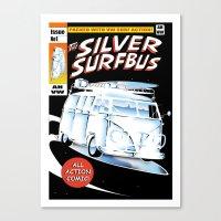 Silver Surfbus Canvas Print