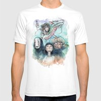 Spirited Away Watercolor… Mens Fitted Tee White SMALL
