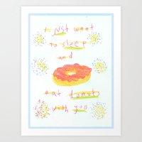 donuts 4 u Art Print